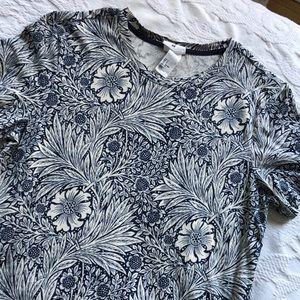 Morris & Co x H&M wallpaper print t shirt
